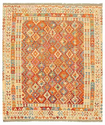 "Hand woven Carpet 8'5"" x 9'10"" Traditional Vintage Wool Kilim...DISCOUNTED!"