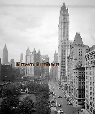 1910s NYC Woolworth Building Highest Building in World Film Camera Negative #2