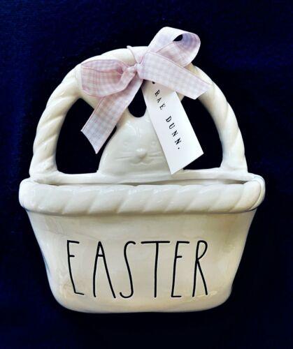 "Rae Dunn by Magenta ""Easter"" Verbiage Ceramic Basket, NWT"