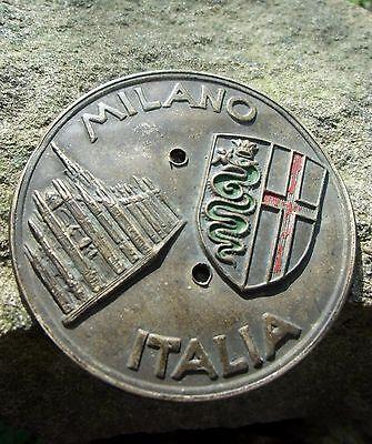 Vintage italian MILANO ITALY ITALIA Car Badge ALFA ROMEO from about 1910-40