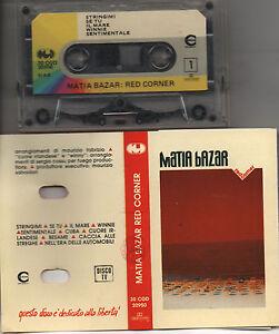 MATIA-BAZAR-musicassetta-originale-STAMPA-ITALIANA-Red-Corner-1989-mc-tape
