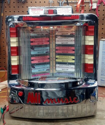 AMI WALLBOX JUKEBOX MODEL WQ-200-3 RESTORED and RECHROMED - STOCK #5551