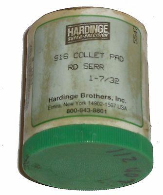 New Hardinge 1-732 Round Serrated S16 Collet Pad Set
