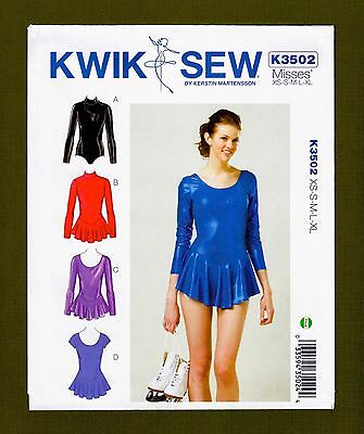 (Dance/Skating Leotards Sewing Pattern~Optional Skirt (Sizes XS-XL) Kwik Sew 3502)