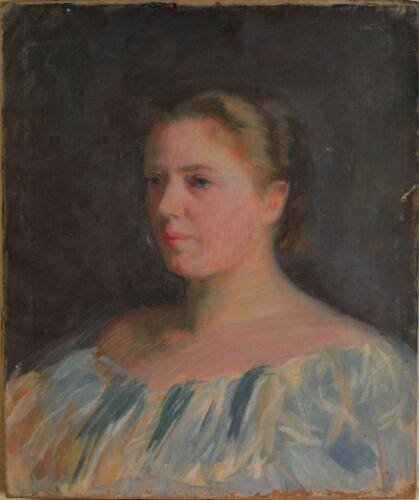 Ellen Day Hale Original Oil Painting On Canvas, Beautiful Female Portrait, Nice!