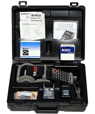Brady Tls2200 V4.04 Portable Label Maker Printer Battery Charger And Case
