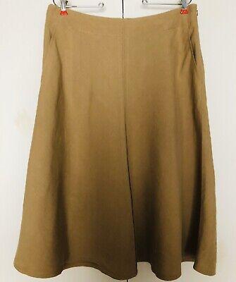 DKNY Linen Blend Skirt Sz 12 Beige Khaki       A-Line Skirt