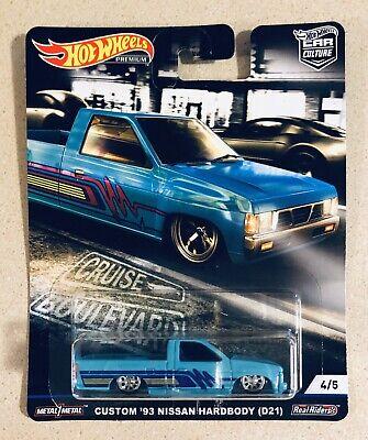 Hot Wheels Custom '93 Nissan Hardbody  Car Culture Boulevard Real Riders