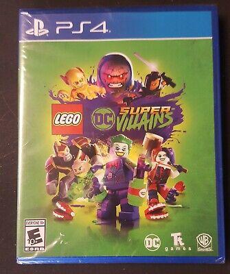 LEGO: DC Comics Super Villains (PlayStation 4, 2018) New Factory Sealed