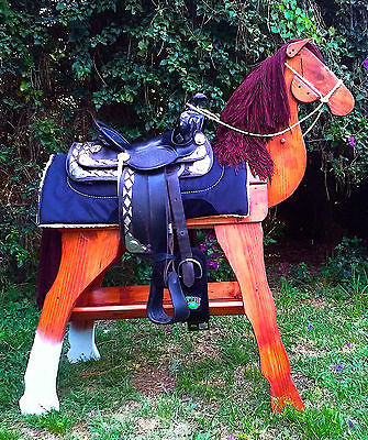 SaddleStandz® Horse Saddle Stand Saddle Rack Heavy Duty Elegant SORREL finish