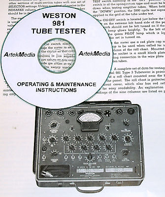 Weston 981 Type-3 Tube Tester Operating Maintenance Manual