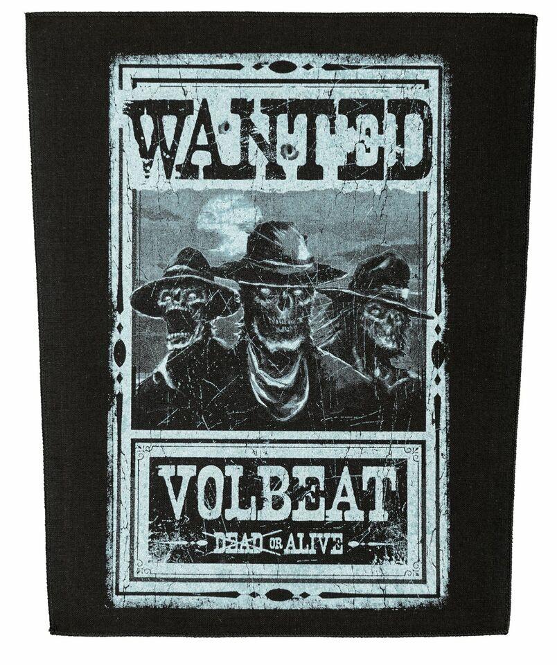 Volbeat Rückenaufnäher  WANTED Backpatch Lizenzware in Gescher