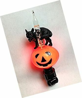 Cat Bubble Night Light - Halloween Jack O'Lantern And Black Cat Bubble Light Night Light Set of 1
