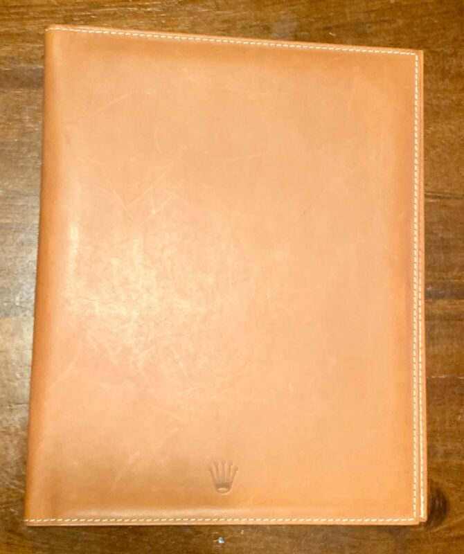 Rolex Leather Document Holder And Pen