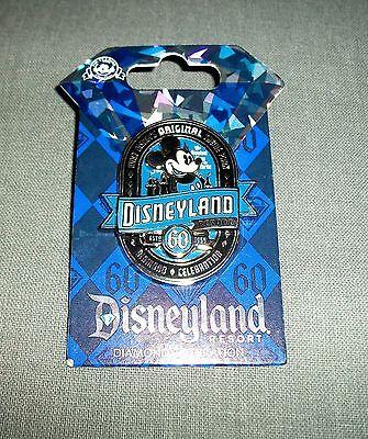 NWT Disneyland 60th Anniversary Diamond Celebration Pin- Mickey Mouse Fast Ship!