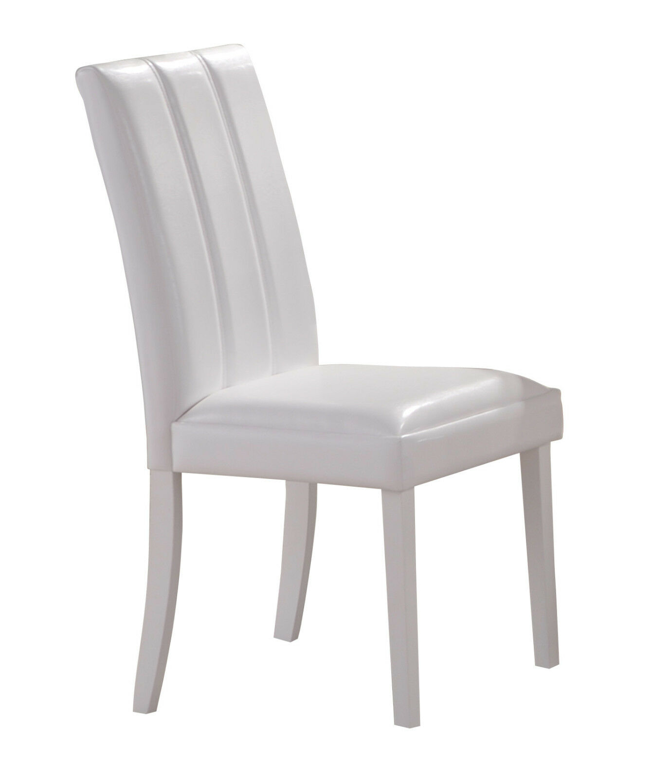 Chairs White Leather Wooden Legs