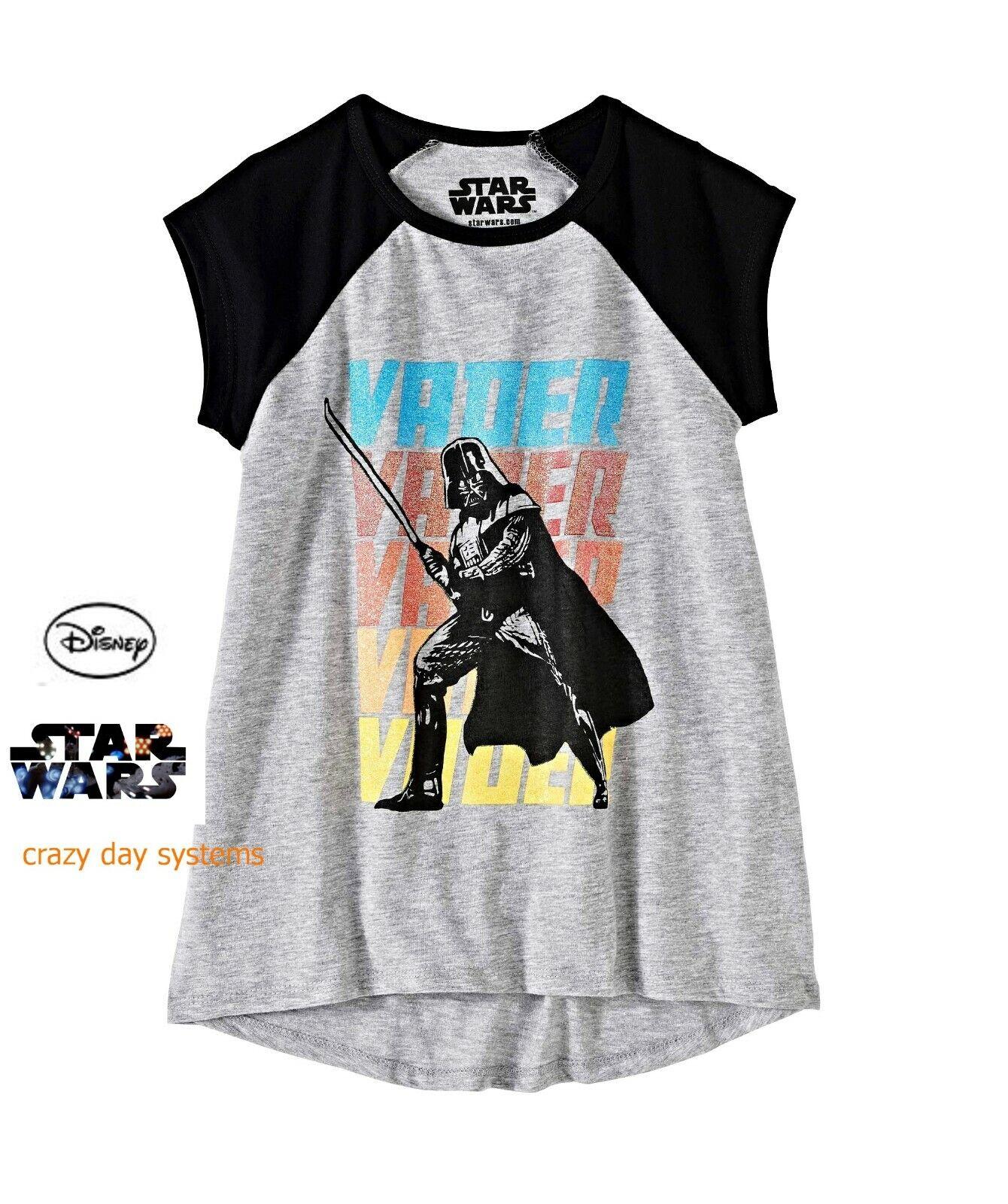 new girls darth vader light saber raglan