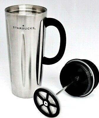 691b0d87928 Starbucks Barista 2003 Stainless Steel 16 ounce French Press Travel Mug