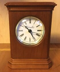 Vintage 6¾ Tall VERSAILLES Wooden Mantle CLOCK Made in USA