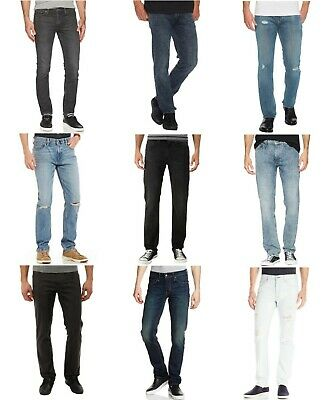 Levis 511 Slim Fit Jeans Mens Slim Slightly Tapered Leg Zip Fly Low Rise -