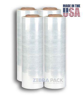 "18"" x 1500' 4 Rolls Stretch Wrap Film Pallet Hand Shrink Heavy Duty 1500 FT"