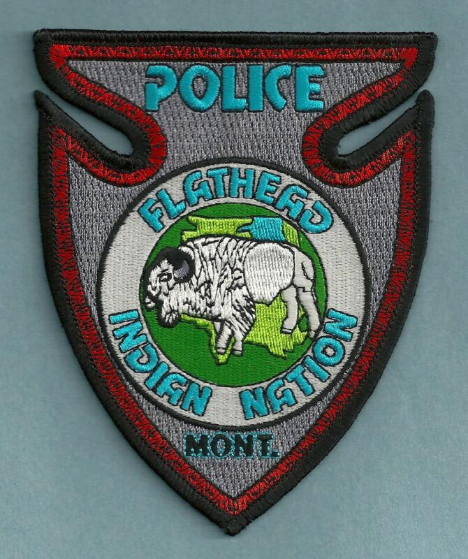 FLATHEAD NATION MONTANA TRIBAL POLICE SHOULDER PATCH BUFFALO!