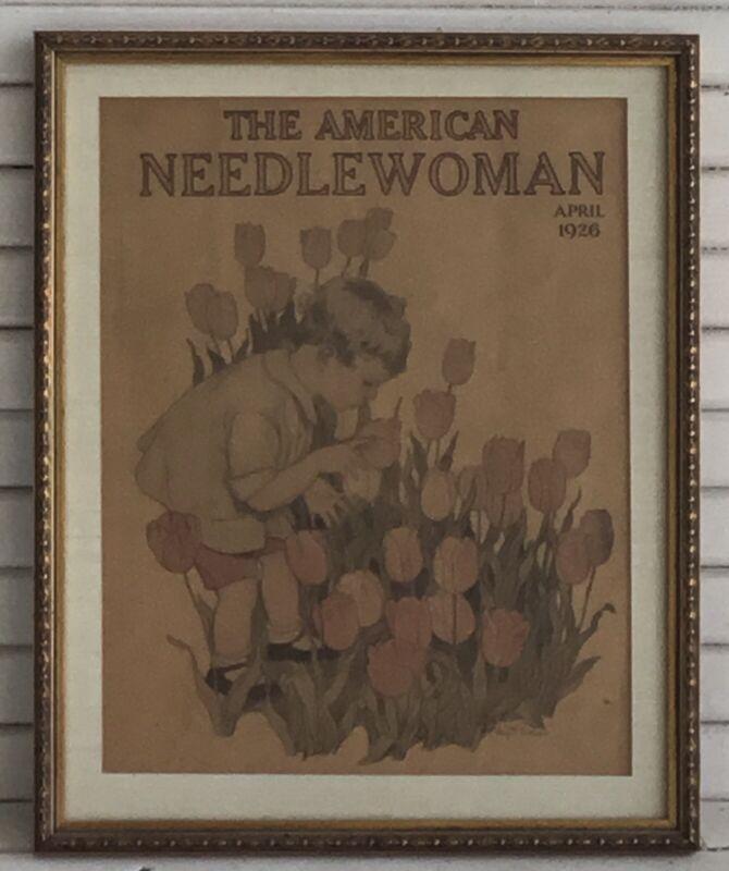 AMERICAN NEEDLE WOMAN Magazine April 1926 Original Vintage Gorgeous Frame