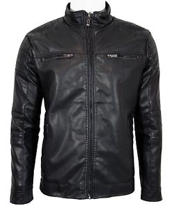 blouson veste cuir homme motard bikers bandit taille s. Black Bedroom Furniture Sets. Home Design Ideas