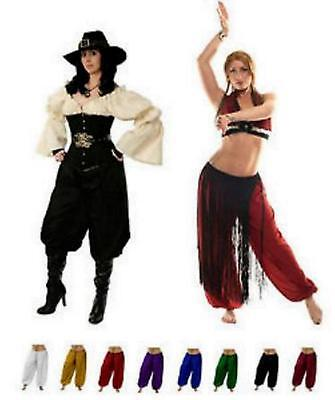 RENAISSANCE DRESS-UP BELLY DANCE PIRATE COSTUME TRIBAL GYPSY GENIE HAREM PANTS (Pirate Dress Up)