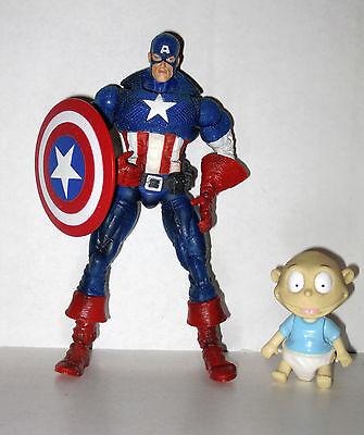 Marvel Legends Captain America Masked Face Off 2 pack Custom Missing WIngs