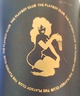 Vintage 1960's or 1970's Playboy Club Black Frosted Glass Matt Black Mug Stein !