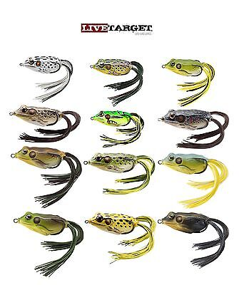 Livetarget Hollow Body Frog 55 2 1 4  Topwater Frog Bass Fishing Bait 12 Colors