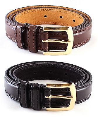 Neu Herren Braun Schwarz Lederhose Anzug Gürtel Taille Größe 32 - 48 Milano ()