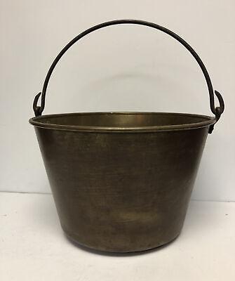 Antique 1851 Hiram W Hayden Brass Maple Syrup large Bucket Primitive
