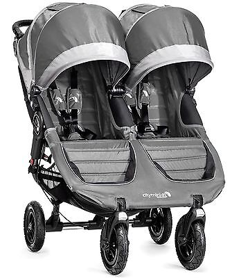 Baby Jogger City Mini GT Double Twin All Terrain Stroller Steel Gray NEW