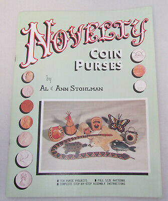 Novelty Coin Purses by Al & Ann Stohlman Ten Projects FulL Size Patterns Leather Novelty Coin Purses