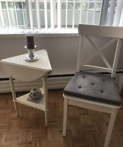 For Sale Antique corner coffee table with Chair Ingolf