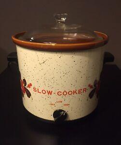 Ceramic 4 Quart Slow Cooker Pot