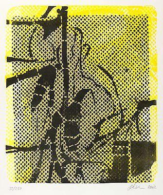 MICHAEL PICKE - IN GELBEN SCHATTEN - Farblithografie 2002