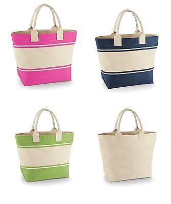 Freizeit Strand Tasche Shopper Robust Canvas Deck Bag Quadra 100% Baumwolle  - Robuste Canvas Taschen