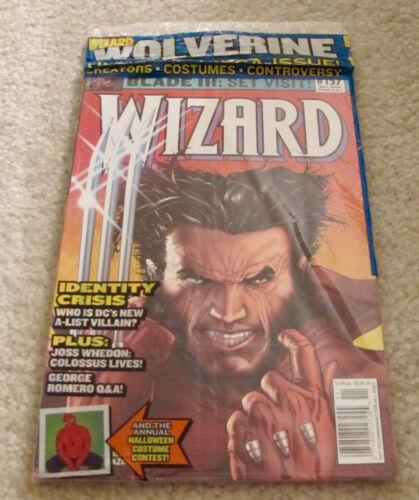 Wizard Magazine 157 In Sealed Polybag w/ Promo Green Goblin Card Identity Crisis