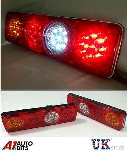 PAIR 12V LED REAR TAIL LIGHTS LAMP 6 FUNCTION TRAILER CARAVAN TRUCK LORRY 36 LED