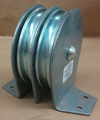 03558-2 3.5 Flat Mount Double Sheave Pulley Block - Max 516 Cable