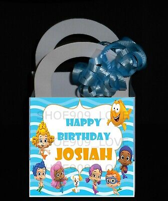 BUBBLE GUPPIES 12 PERSONALIZED BIRTHDAY PARTY FAVOR BOXES 3