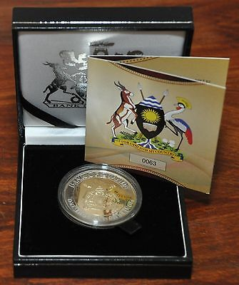 UGANDA - CROWN SIZE BIMETAL 1000 SHILLINGS UNC COIN 2012 50th ANNI INDEPENDENCE