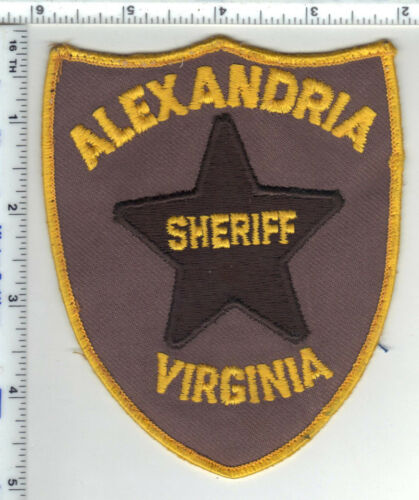 Alexandria Sheriff (Virginia) Uniform Take-Off Shoulder Patch from the 1980