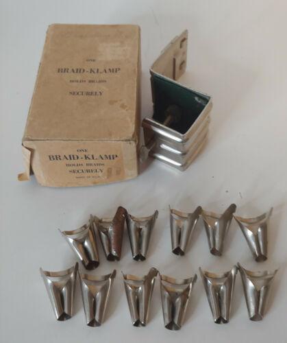 Vintage Braid Klamp Rug Braiding Clamp in Original Box + 12 Vari Folders