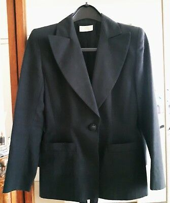 """belle veste blazer noire cintrée """"Emanuelle Khan Paris"""" doublée 2 poches T.38"""
