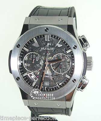 Hublot Classic Fusion 45mm Chronograph Titanium Skeleton Mens Watch 525.nx