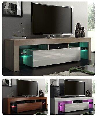 NUOVO! Mobile Porta TV 160cm + multicolore illuminazione a LED lucido 32 colori